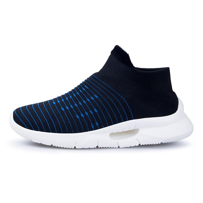 2019 printemps hommes nouvelles chaussures de marche chaussettes chaussures de sport hommes chaussures décontractées fond épais à bascule