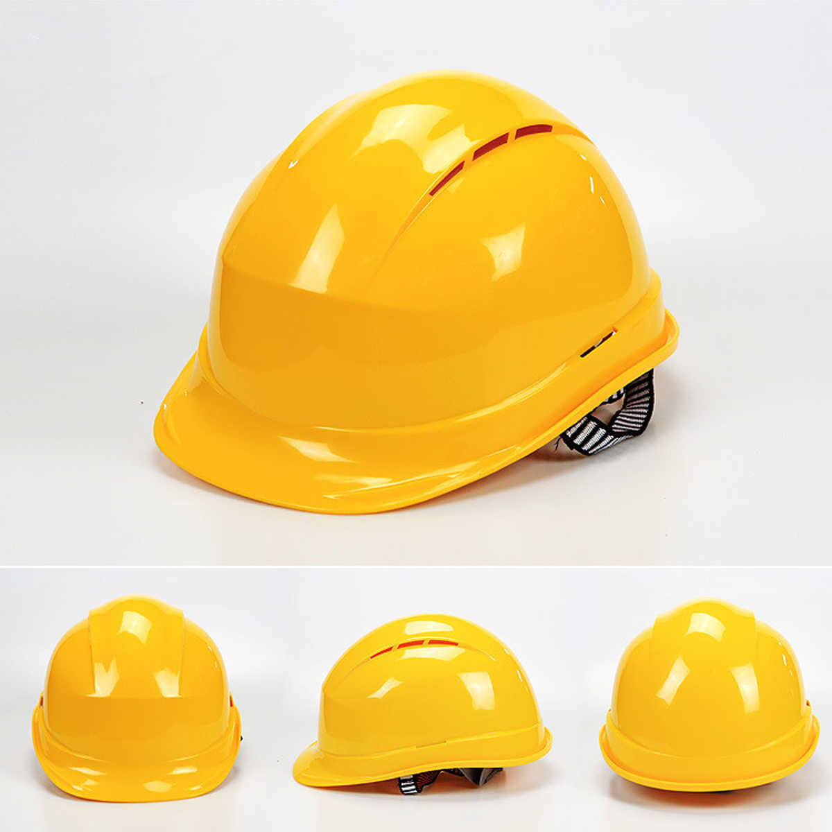... White Yellow Safety Hard Hats Breathable Construction Work Protective  Helmets ABS Insulation Material Protect Rescue ... b18c1739dcd