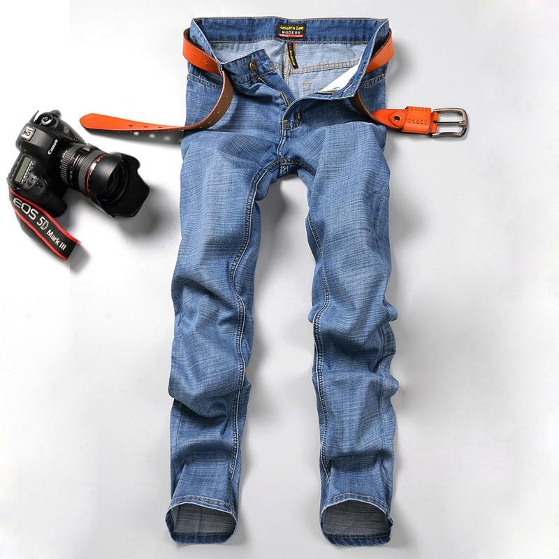 LensTid 2017 Men Brand Male Classic Blue Denim Jeans Pants Mens Slim Styles Acid Washed Famous Brand Cotton Jeans For Men #2039