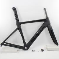 Marka yeni mat + parlak logo QILEFU 700C yarış yol bisikleti UD tam karbon fiber bisiklet çerçeve çatal seatpost kulaklık ücretsiz kargo
