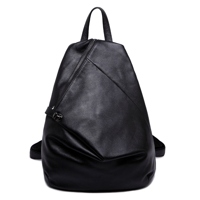 Qiaoduo Fresh Waterproof Women Backpack PU Leather School Bag Female Casual Travel Shoulder Bags Mochila for Teenager Girls Big