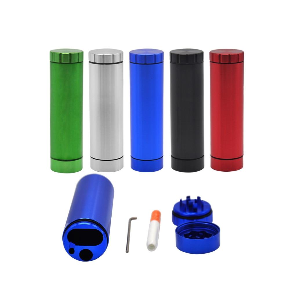 [HORNET] 알루미늄 Dia 30MM 담배 Grid Grid 방풍 관 케이스 허브 분쇄기 저장 방 케이스 담배 파이프