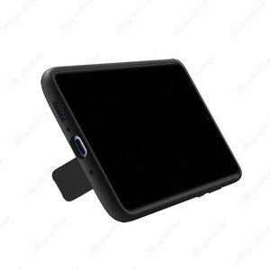 Image 4 - Funda trasera Original oficial Huawei mate 20 X soporte de silicona líquida suave de microfibra integrada para Mate 20X5G