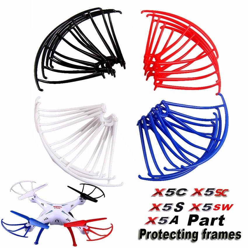 4 colores Syma X5S X5SW X5SC X5A X5C marco protector 2,4G 4CH RC Quadcopter Drone piezas de repuesto anillo protector envío Gratis