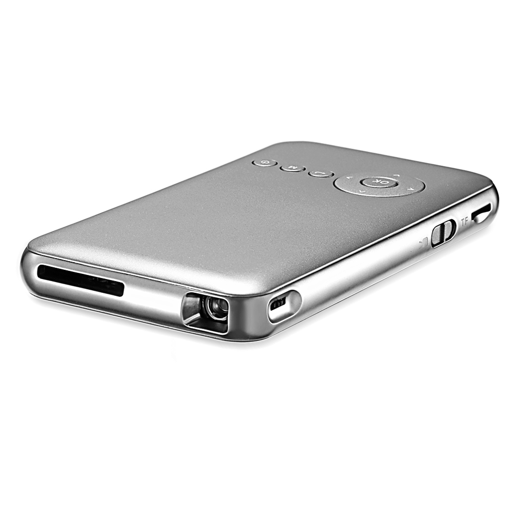 D02 DLP Mini projecteur 8 GB 50 ANSI Android 4.4 projecteur 854x480 Bluetooth 4.0 2.4G/5G WiFi Airplay HD lecteur multimédia projecteur - 3