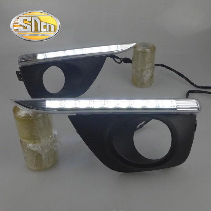 SNCN LED Daytime Running Light For Renault Koleos 2011 2012 2013 2014 Car Accessories Waterproof ABS 12V DRL Fog Lamp Decoration