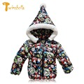 TWINSBELLA Baby boy Winter jacket 2017 fashion Brand Children outerwear girls Christmas Cartoon jacket  child coat for boys