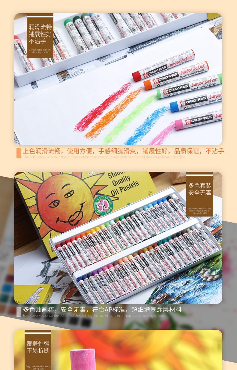36 50 não-tóxico seguro cera lápis de