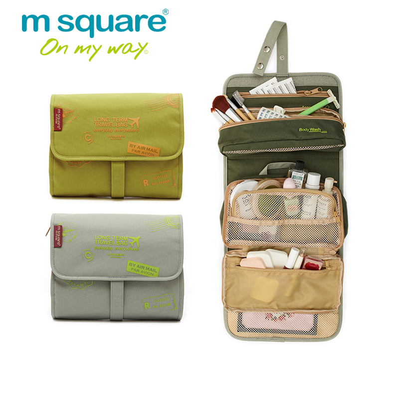 M Square Travel Organizer Women Cosmetic Bag Neceser Makeup Bag Toiletry  Make Up Bags Organizador Kosmetika Maleta De Maquiagem