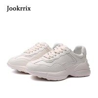Jookrrix New Arrival Spring Fashion Lady Casual White Shoes Women Sneaker Beige Leisure Shoe Real Leather