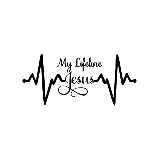 cool graphics my lifeline jesus decal sticker christian
