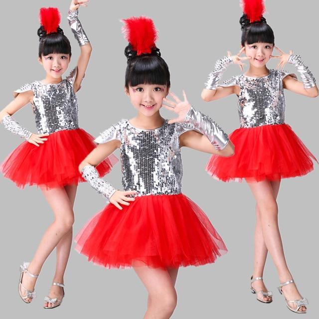 2eedd1da96d1 Jazz Dance Costumes Modern Dance Dress Girl Stage Costumes for ...