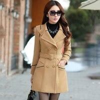 2016 spring new women's cashmere coat korean style fashion designer elegant female overcoat mantle cloak kasmir manteau femme