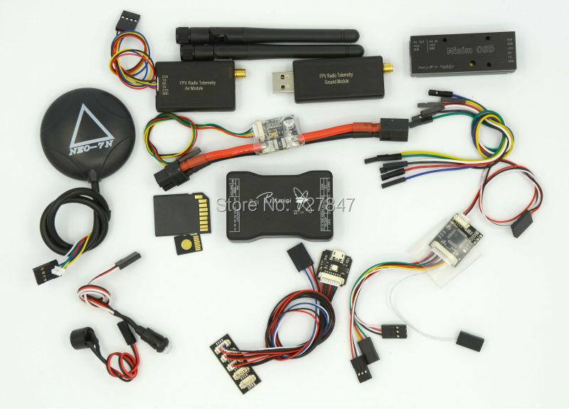 Mini Pixhawk Flight Control 32bit Pixhawk2.4.6  Power Module Minin Osd 433mhz Telemetry 7N GPS Combo pixhawk px4 uav flight control suite m8n gps digital osd 3 w led