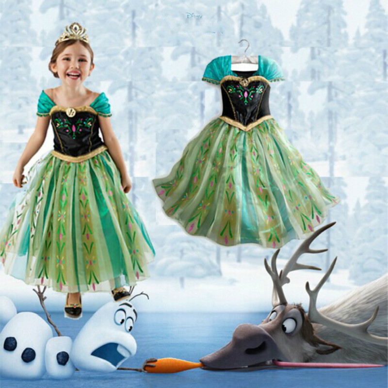 Girl Dresses Princess girl dress Children Clothing Anna Elsa Cosplay Olaf Costume Kid's Party Dress Baby Girls Clothes