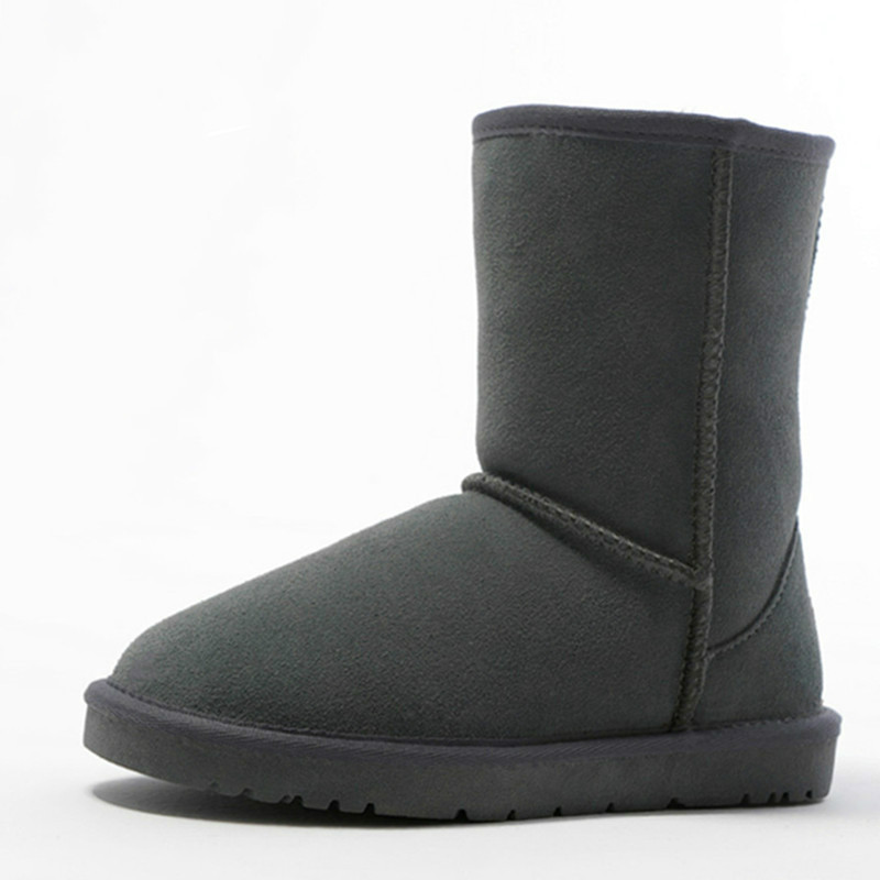 Plus Size 42 43 44 45 Genuine Leather Women Boots Winter Boots Ladies Shoes Woman Snow Boots Fur Inside Warm 2017 autoprofi agr 110h