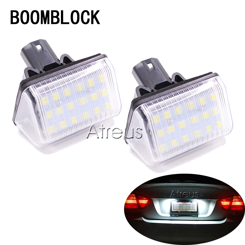 2pcs For <font><b>Mazda</b></font> 6 CX-5 CX-7 CX5 <font><b>CX7</b></font> Accessories Car <font><b>LED</b></font> License Plate Lights 12V White SMD <font><b>LED</b></font> Number Plate Lamp Bulb Kit image