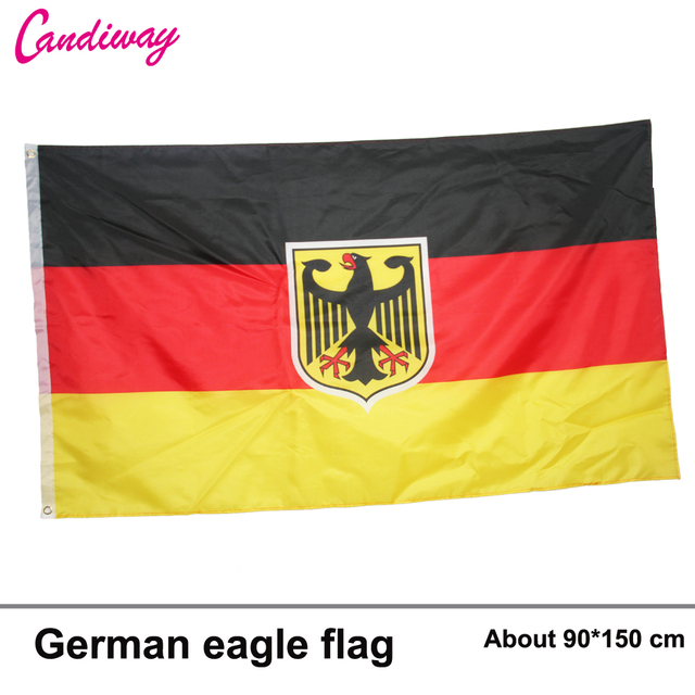 German flag coat of arms eagle sticker die cut decal vinyl germany 3x5ft 90
