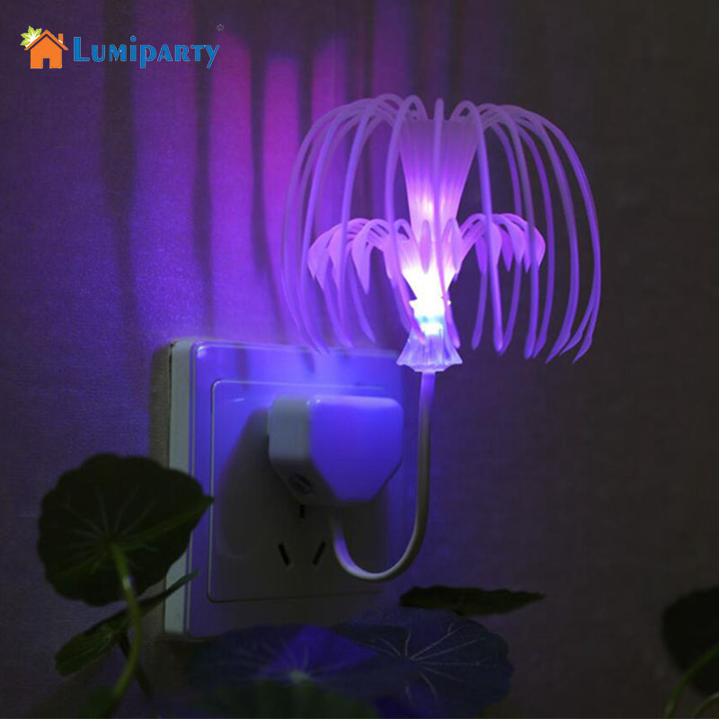 LumiParty LED Night Lights Control Colors Sacred Tree Seed Light Plug Colorful changed lamp Christmas holiday gifts for children
