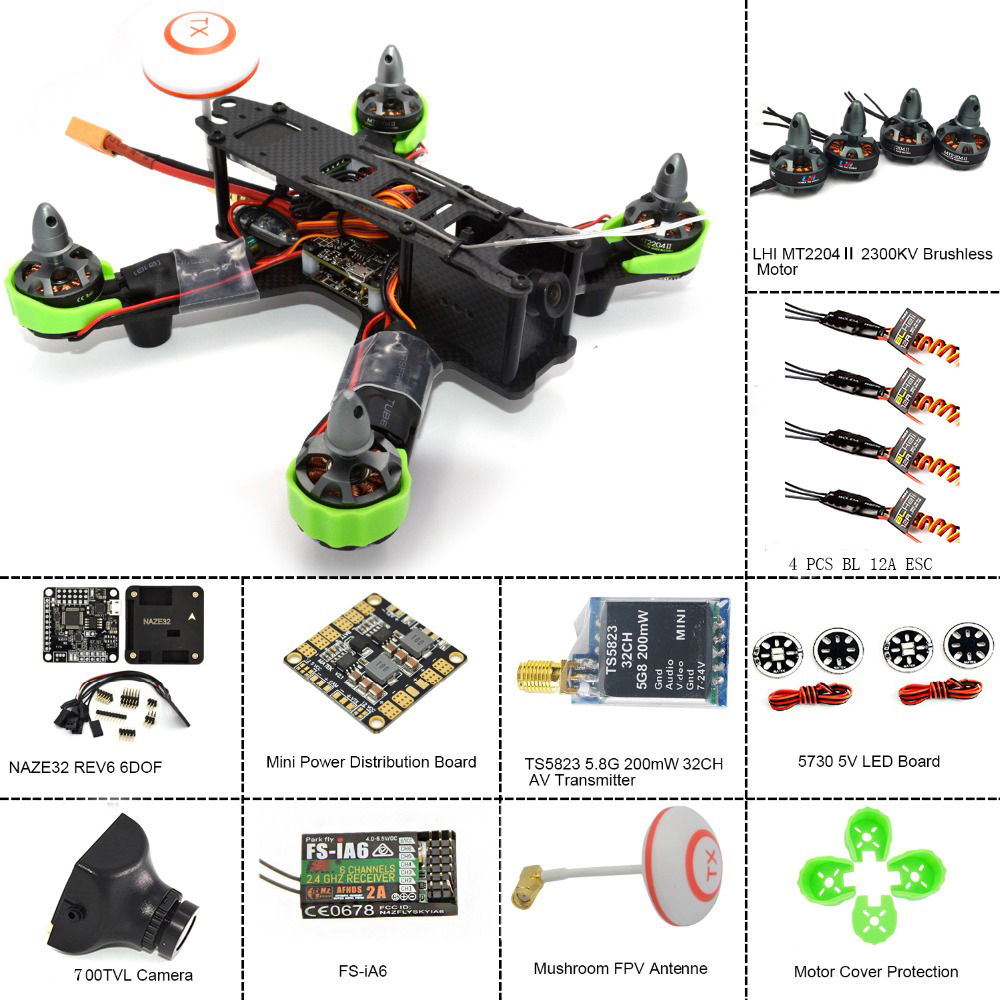 Dron Camera Lhi Rc Helicopter Drone With 700tvl Hd Fpv 5.8g 6-axis Remote Control Quadco ...