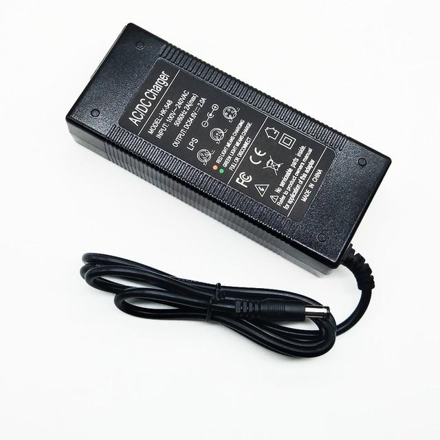 HK Liitokala 54.6V2A şarj cihazı 54.6 v 2A elektrikli bisiklet lityum pil şarj cihazı için 48 V lityum pil paketi 54.6V2A şarj cihazı