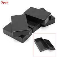5Pcs Enclosure Instrument Electronic Project Power Indoor Outdoor Cable Monitoring Waterproof ABS Junction Box Black Wire Case