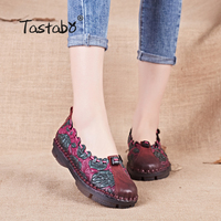 Spring Summer Multicolor Women Genuine Leather Casual Shoes Fashion Shoes Cow Muscle Outsole Flat Shoes Nurse