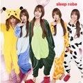 2016 Adults Flannel sleepwear All in One Pyjama Animal Suits Costumes Adult Garment Cartoon Animal Onesies sleepwear