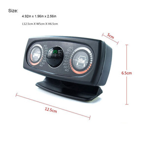Image 5 - תכליתי רכב מצפן מדרון למדוד רכב אביזרי כלי מדריך כדור רמת גל נטייה מכשיר רכב Inclinometer