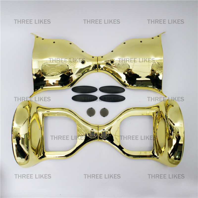 Chrome Gold 10 Two Wheels Self Balancing Electric Scooter Parts for Hoverboard Plastic Shell Cover Case