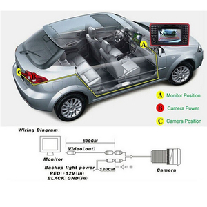 Image 5 - Camecho Vehicle Camera HD CCD Car Rear View Camera Rearview Back Parking Monitor Wide Degree Universal Auto Camera Night Vision