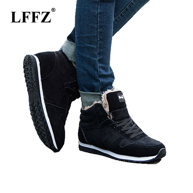 New Fashion Men Snow Boots Plush Super Warm Boots Men boots Work Shoes real suede leather lover Winter shoes sneakers ST13