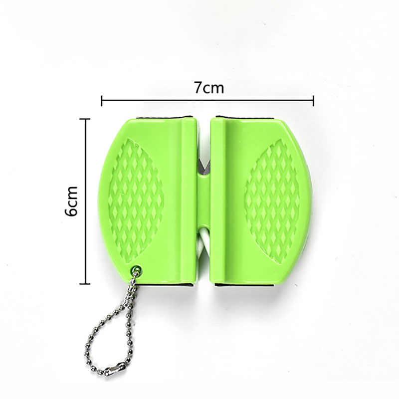 Oneup Mini Keramik Batang Pengasah Pisau Dua Tahap Tungsten Portable Butterfly Tipe Gerinda Pengasah Asah Pisau Batu