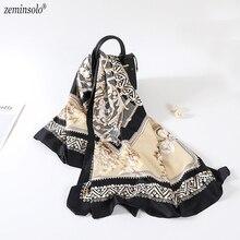 Fashion Printed 100% Twill Silk Scarf Hijab Bandana Foulard Large Square Luxury Brand Silk Scarf Scarves Shawls Wraps 130*130cm цена