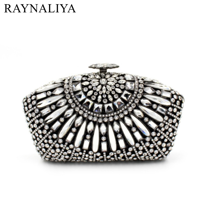 Women Beading Evening Bags Ladies Wedding Party Clutch Bag Crystal Diamonds Purses European And American Style Smyzh-e0079 women circular evening bags ladies wedding party clutch bag luxury handbags casual crystal diamonds purses smyzh e0135