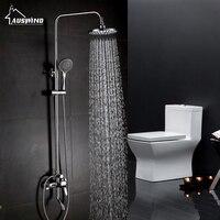 Vender Bañeras ducha pared grifo Bañeras latón cascada pared grifo mezclador con ducha de mano cromado grifo