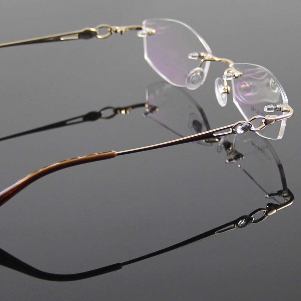 Oro gafas marco mujer gafas sin montura marco mujer gafas ópticas ...