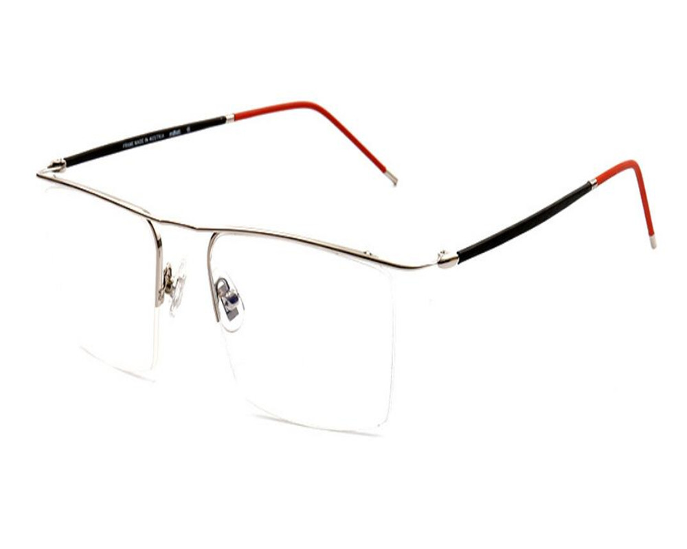 Apparel Accessories Men's Eyewear Frames Earnest Mongoten Business Men Fashion Half Rim Alloy Ultralight Clear Lens Optical Eyeglasses Frame Silver Gold Myopia Eyewear Frame A Wide Selection Of Colours And Designs