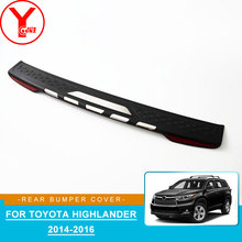 ABS rear bumper protector For toyota highlander 2014 2015 2016 car styling accessories YCSUNZ