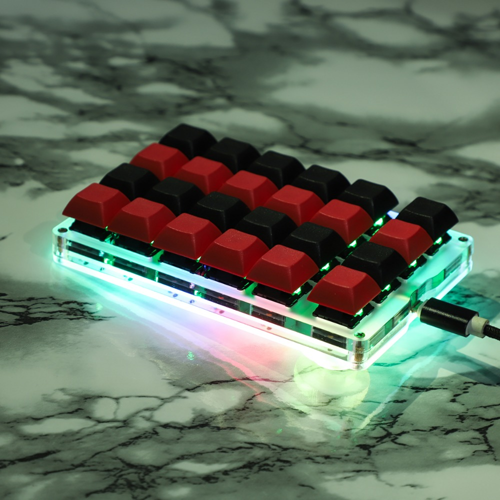 21 23 24 Key RGB YMDK Programmable Marco Function MX Cherry Gateron Switches Mechanical Keyboard Numpad