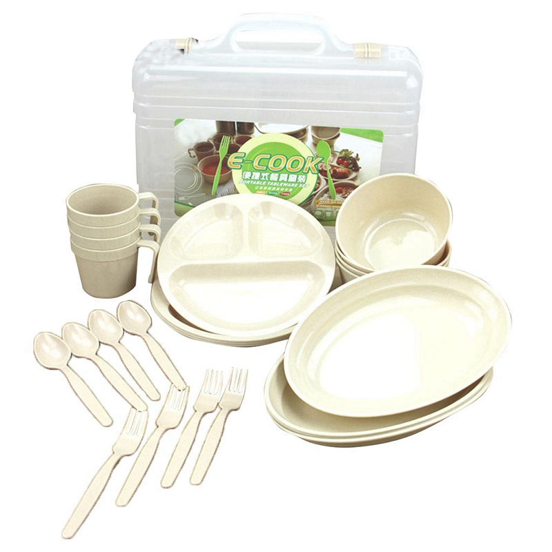 Plate for Picnic//Beach//BBQ 3pcs Foldable Tableware Set Including Bowl Cup