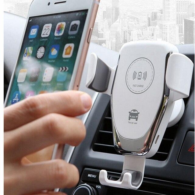 Cargador inalámbrico QI de 10W para coche, soporte de montaje para iPhone XS, Max, Samsung S9, Mi 9 Xiaomi, Huawei Mate 20 Pro, Mate 20 RS