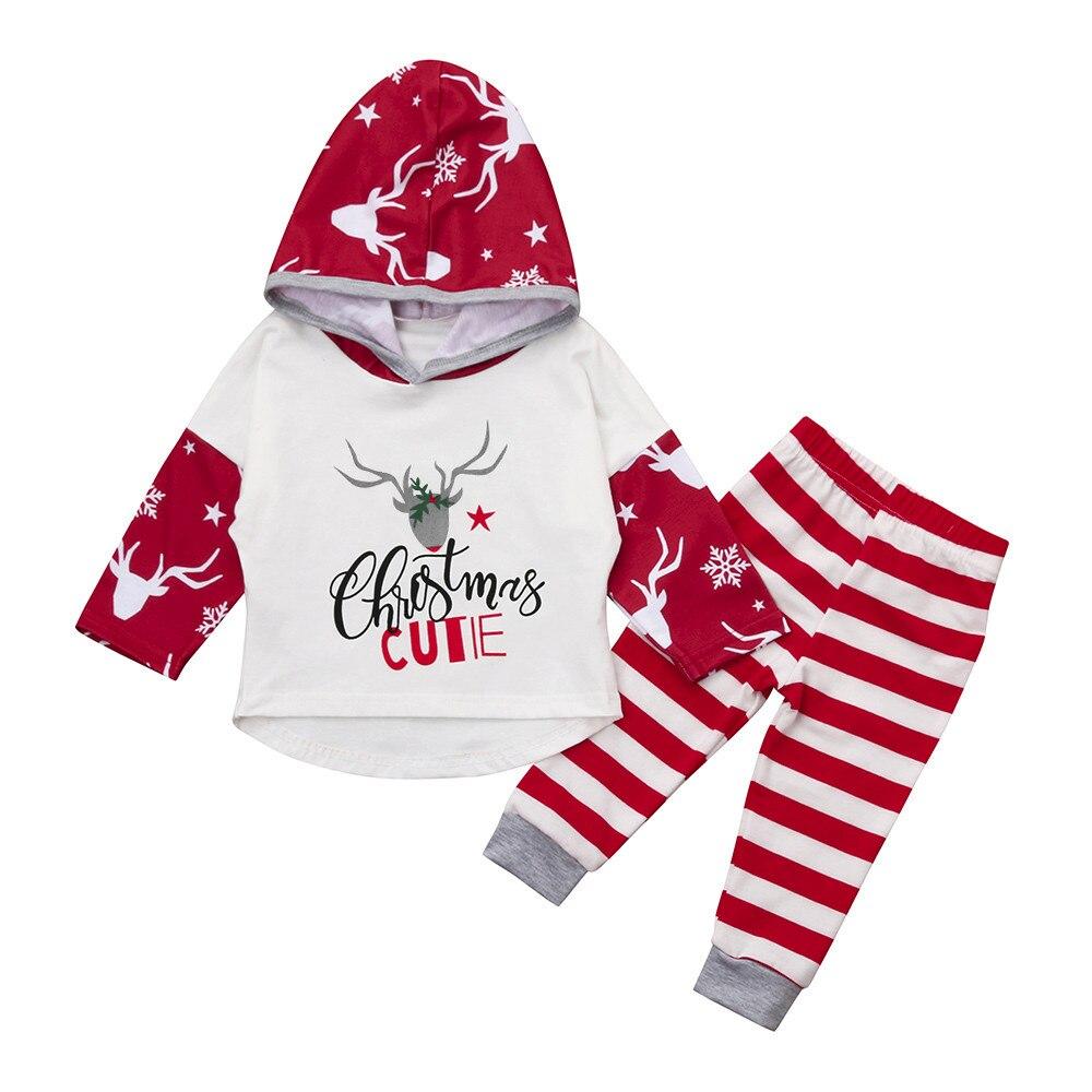 Новые детские хлопок на осень и зиму теплая одежда новорожденных Обувь для девочек Обувь для мальчиков милые Рождество олень письмо Топы Ко...