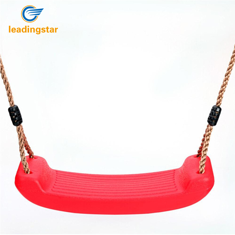RCtown Kid Indoor Outdoor Play Game Toy Swing Seat Set Plastic Hard Bending Plate Chair and Rope zk30
