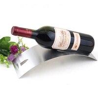 Modieuze Eenvoudige Curve Ontwerp Rvs Tafel Wijn Rekken Houder Wijnrek Glaswerk Rack Fles Plank Voor Home