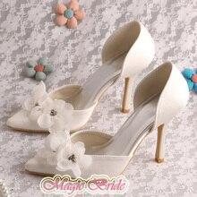 Magic Custom Handmade Classy Party Ladies Dress Shoes Bride Thin Heel Size 7