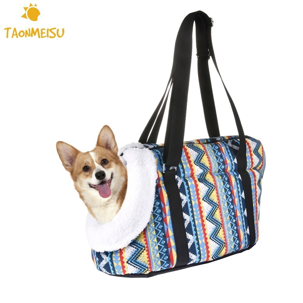 Pet Dog Carrier Shoulder Bag Cat Breathable Front Bag Winter Outdoor Travel Backpack Portable Crossbody Bag Small Dog Slings