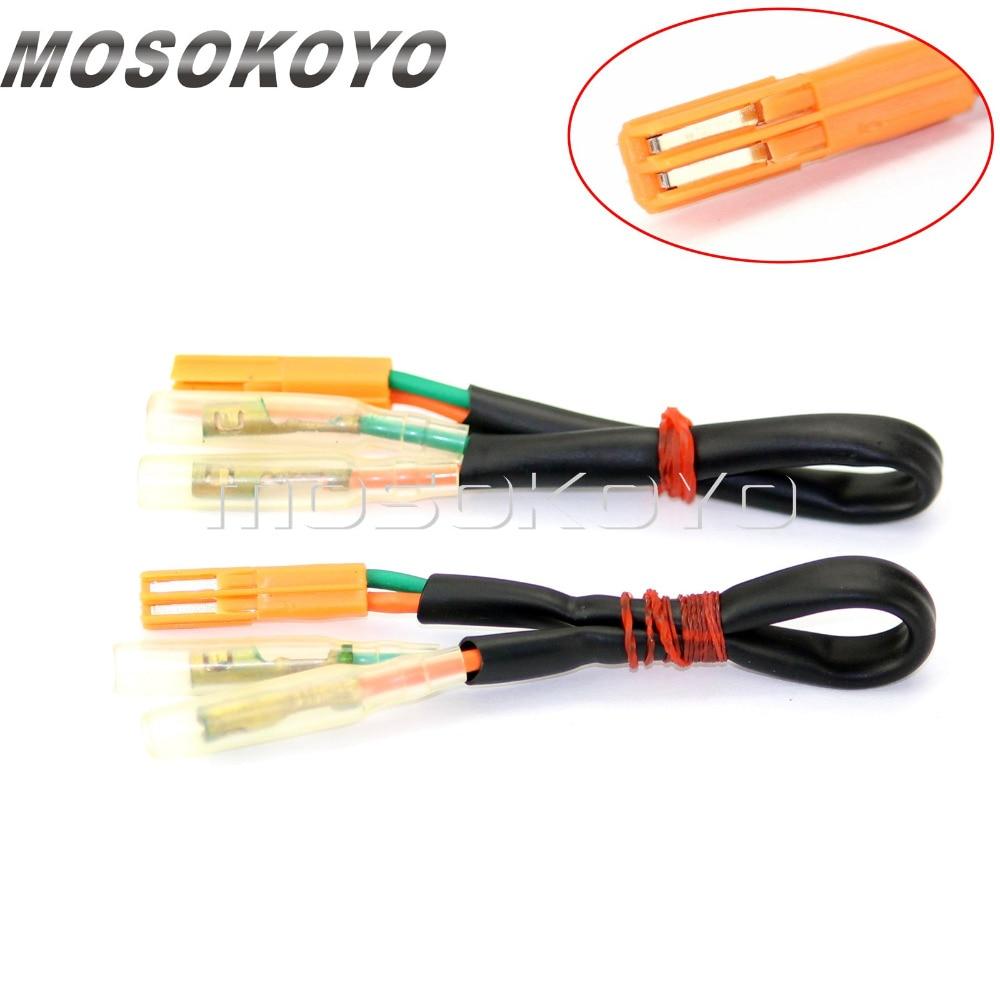 2 pcs motorcycle turn signal connectors plug indicator wiring rh aliexpress com