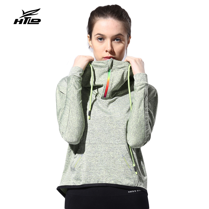 HTLD Loose Quick Dry Casual Hoodies Long Sleeve Sweatshirts Women Fitness Hooded Jackets Female Workout Outerwear Lady Tops 096
