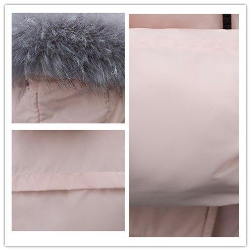 Plus Le 2018 Feminino black Épaisse caramel Mode Bas Casaco Mince Nouvelle Manteau Veste Gc213 Femmes Taille Vers Chaud Parka La beige Coton D'hiver Tinteen Pink YwHZqw